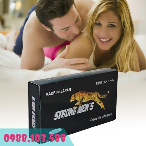 bao cao su strong men's có gai kéo dài thời gian quan hệ