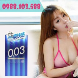 Bao Cao Su Jex Invi 0.03 Cool siêu mỏng mát lạnh