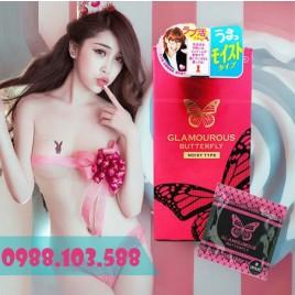 Bao Cao Su siêu trơn siêu dai Jex Glamourous Butterfly Moist