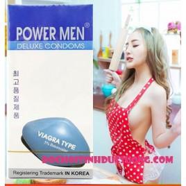 Bao Cao Su Ôm Khít Power Men Viagra Type – Chống xuất tinh sớm.