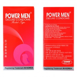 Bao Cao Su Có Gân, Gai, Mùi Socola Powermen Rocket