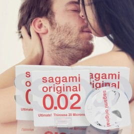 Hộp 6 Chiếc Bao cao su Sagami Original 0.02 Quick Siêu Mỏng Nhất Hành Tinh